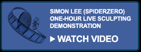 Watch Simon Lee Spiderzero Live Sculpting Demonstration Super Sculpey Creature Design